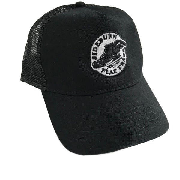 Image of Flat Track Trucker Cap - BLACK