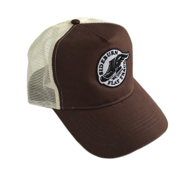 Image of Flat Track Trucker Cap - Dirt Brown