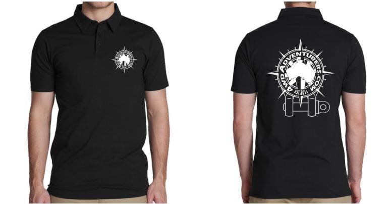 Image of Shackle Polo Shirt Black