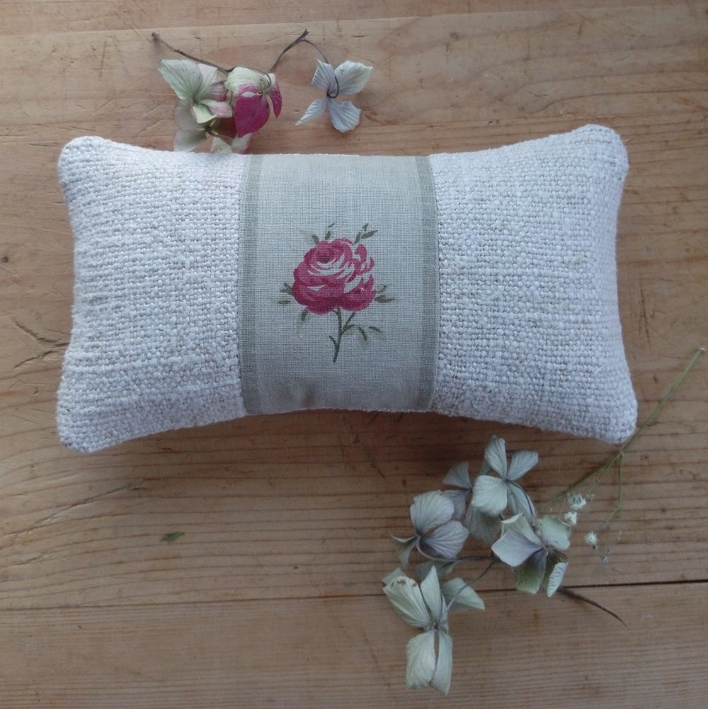 Image of Lavender Grainsack Pillow - Rose