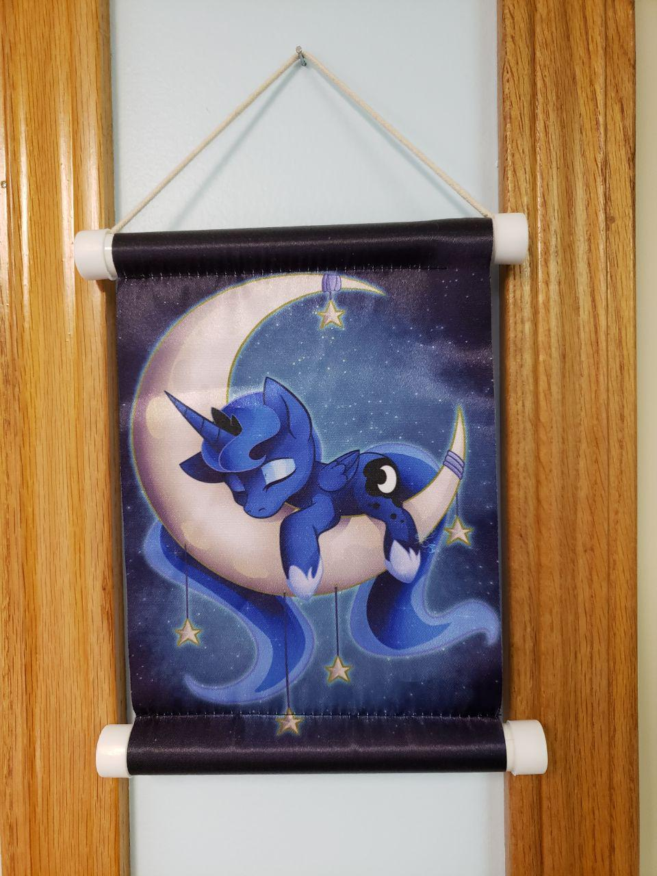 Image of Sleepy Princess Miniture Wall scroll