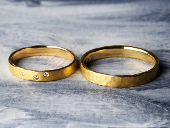 Image of partner rings with diamonds