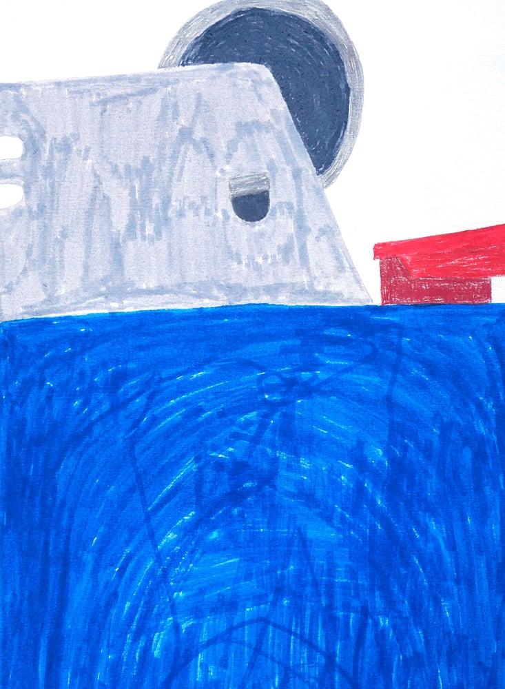 """Image of A2 """"BLUE LIGHTER"""" Original Artwork"""