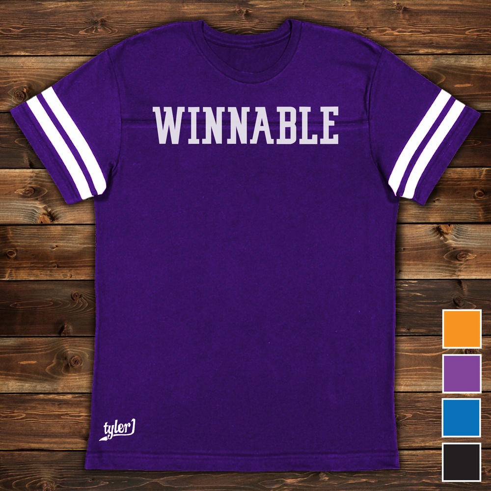 Image of Winnable Premium Ringer Tee - Purple