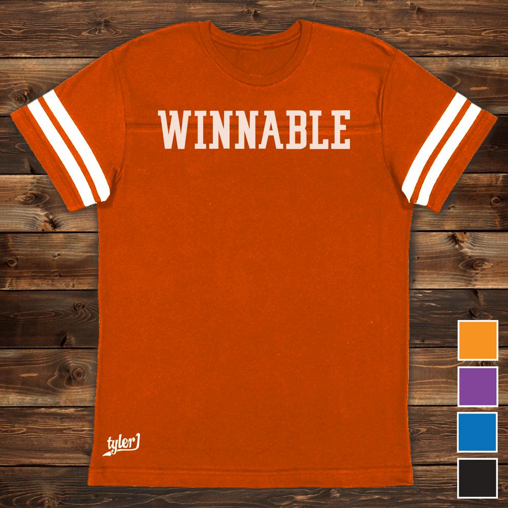 Image of Winnable Premium Ringer Tee - Orange