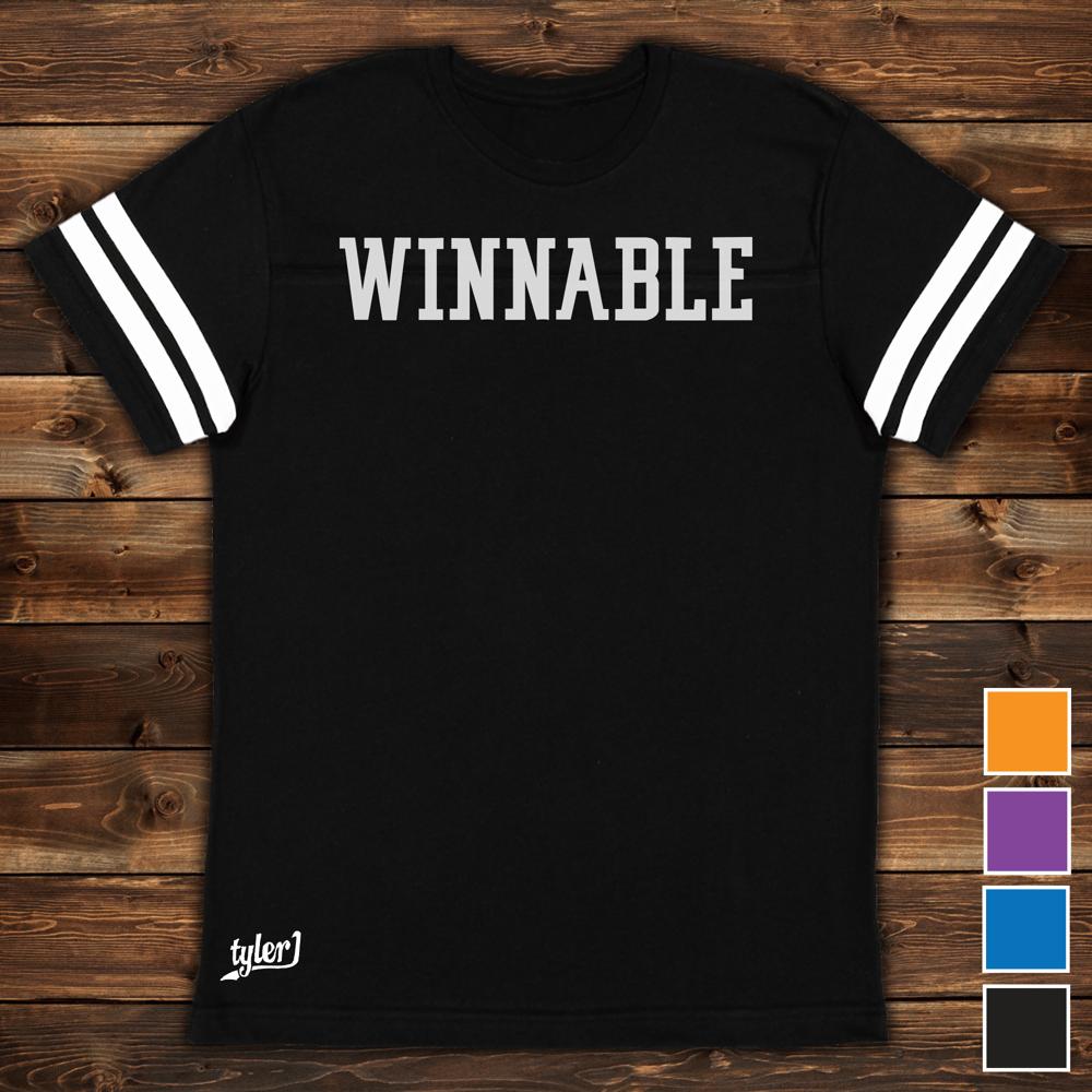 Winnable Premium Ringer Tee - Black