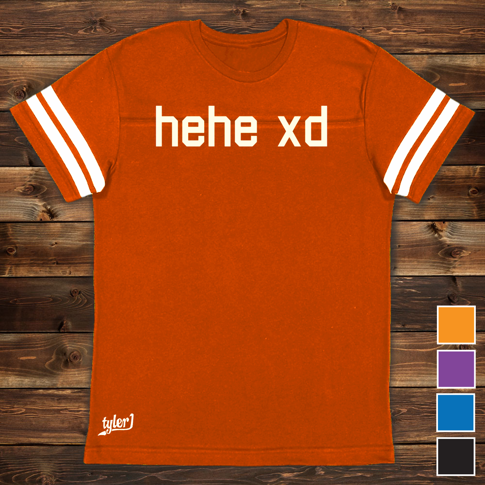 Image of hehe xd Premium Ringer Tee - Orange