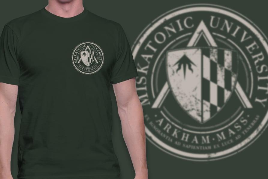 Image of Miskatonic University t-shirt