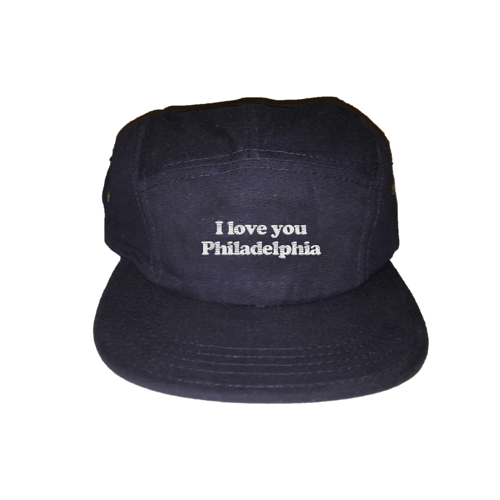 Image of I love you Philadelphia 5 panel unstructured hat navy
