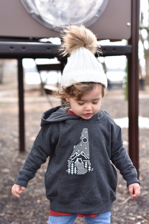 Image of Kids/Toddler Camping Logo Hoodie