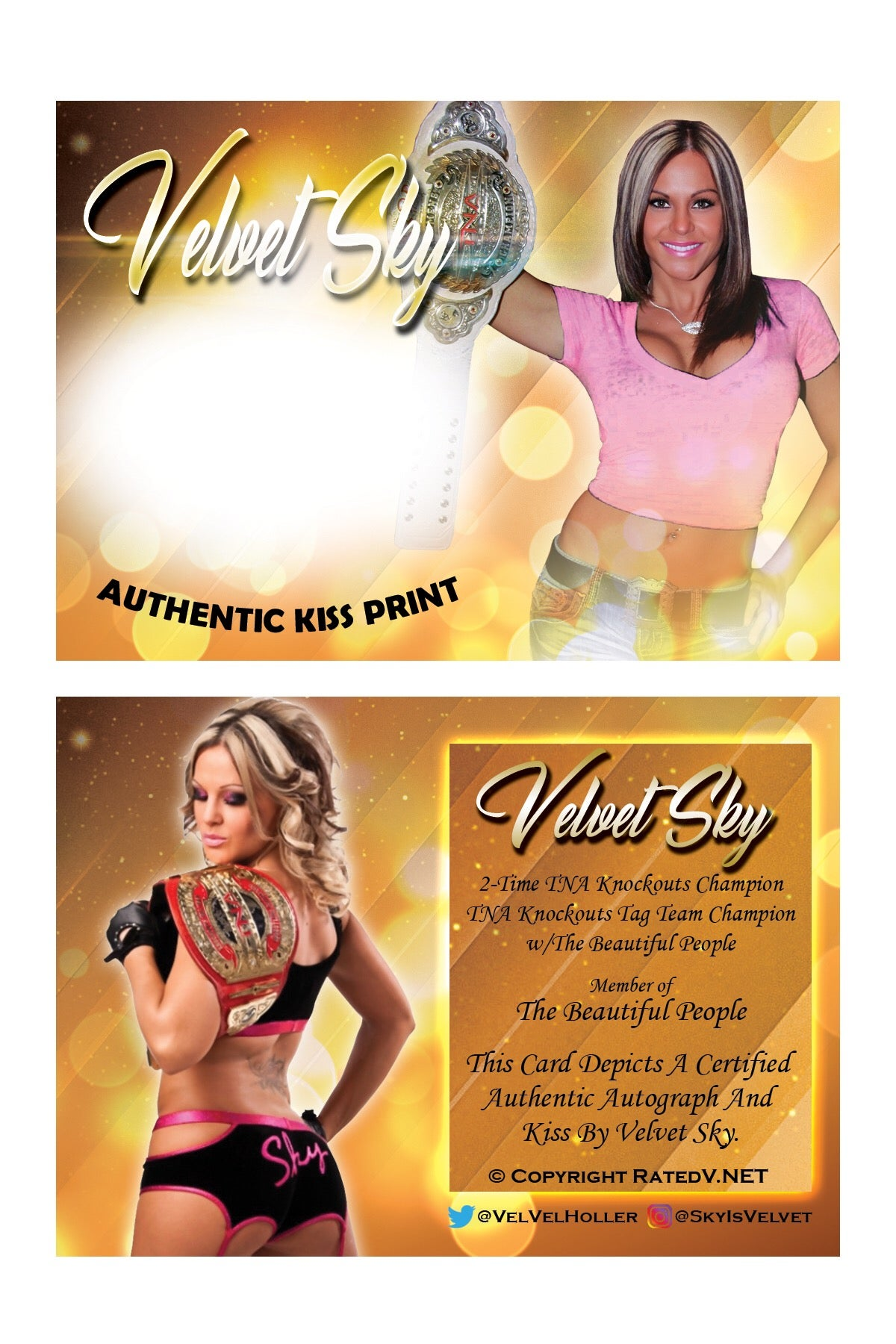 "Image of Velvet Sky ""Champion"" Authentic Kiss Card"