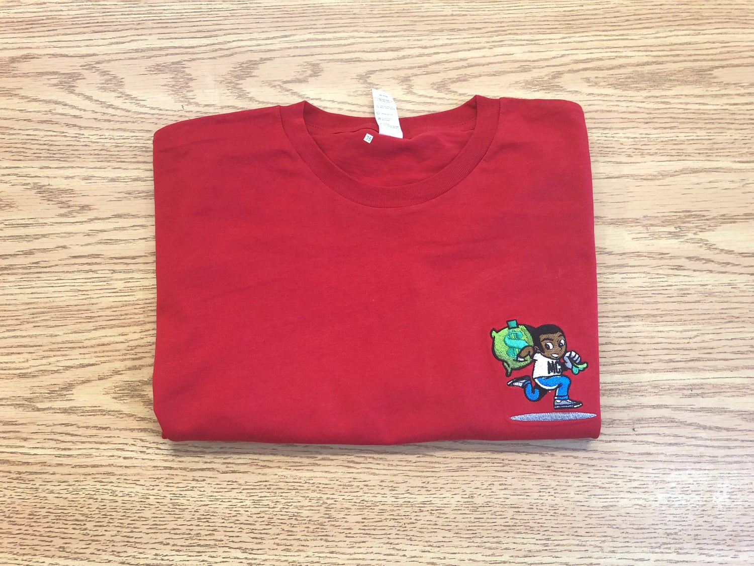 Image of RED Embroidered LOGO T