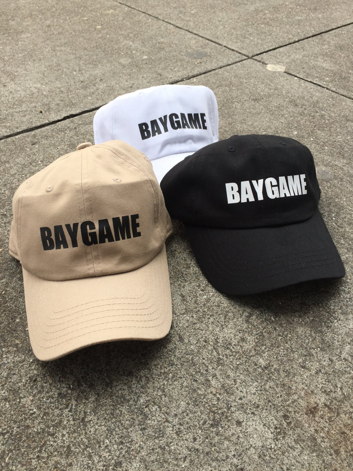 Image of Baygame Basic logo Dad cap