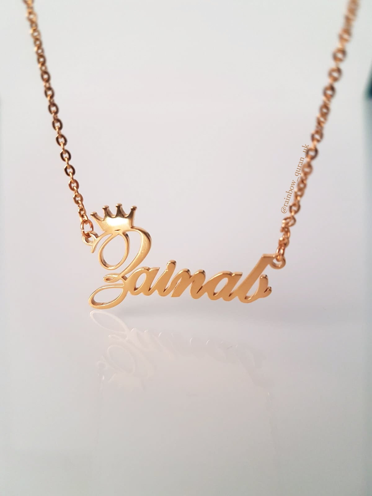 Image of Personalised Name in English With Crown