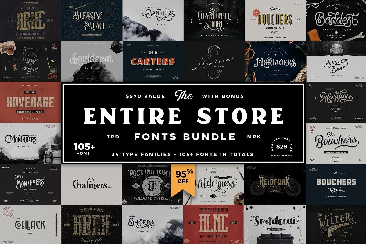 Image of Entire Store Bundle - 104 Fonts