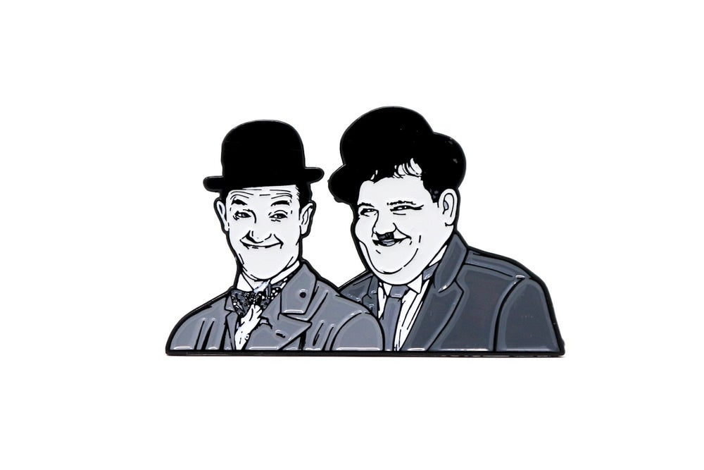 Image of Laurel & Hardy Enamel Pin