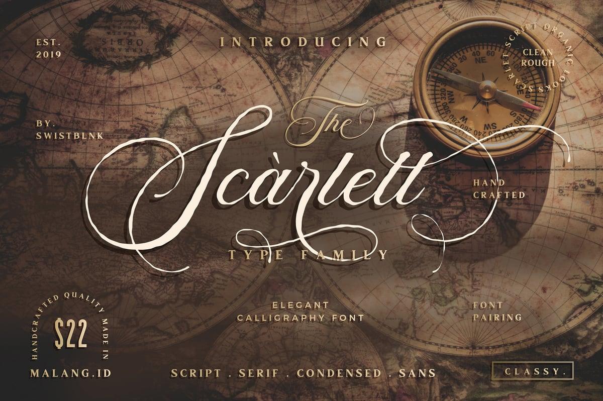 Image of Scarlett Font Bundle