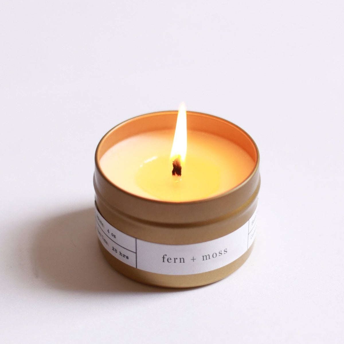 Image of Fern + Moss Gold Travel Candle