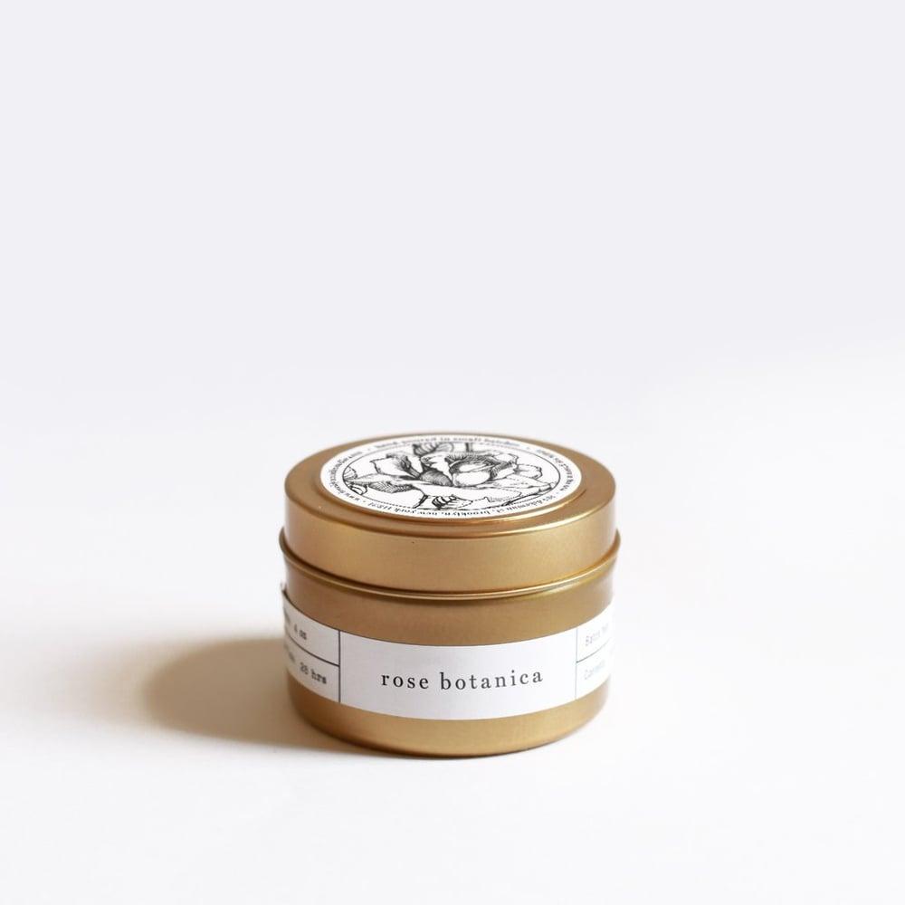 Image of Rose Botanica Gold Travel Candle