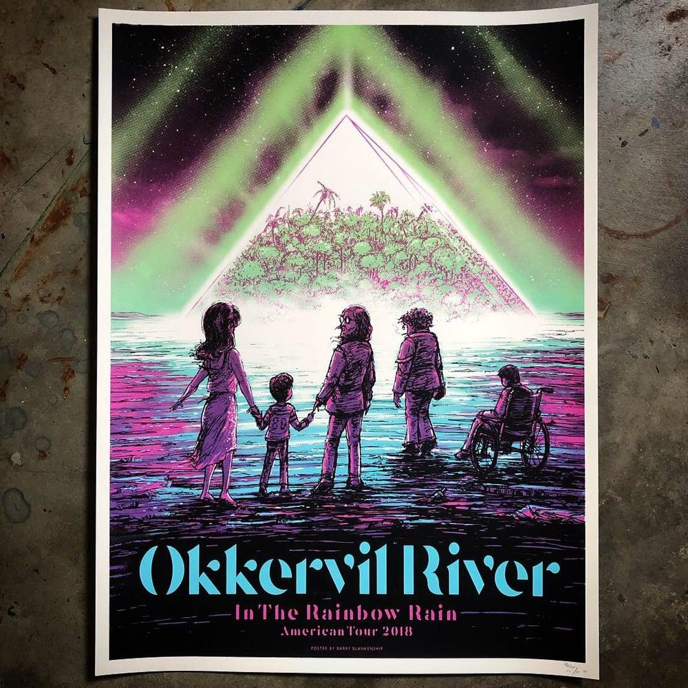 Image of Okkervil River 2018 tour poster