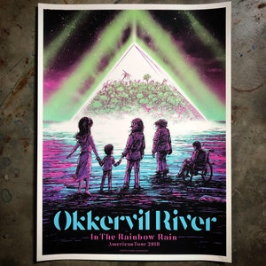 Image of Okkervil River 2018 tour poster