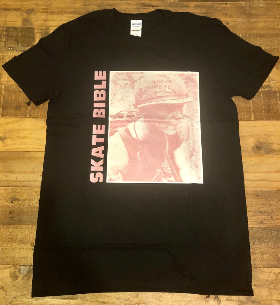 "Image of Limited Edition ""Sin Is Murder"" Pink Print T-shirt."