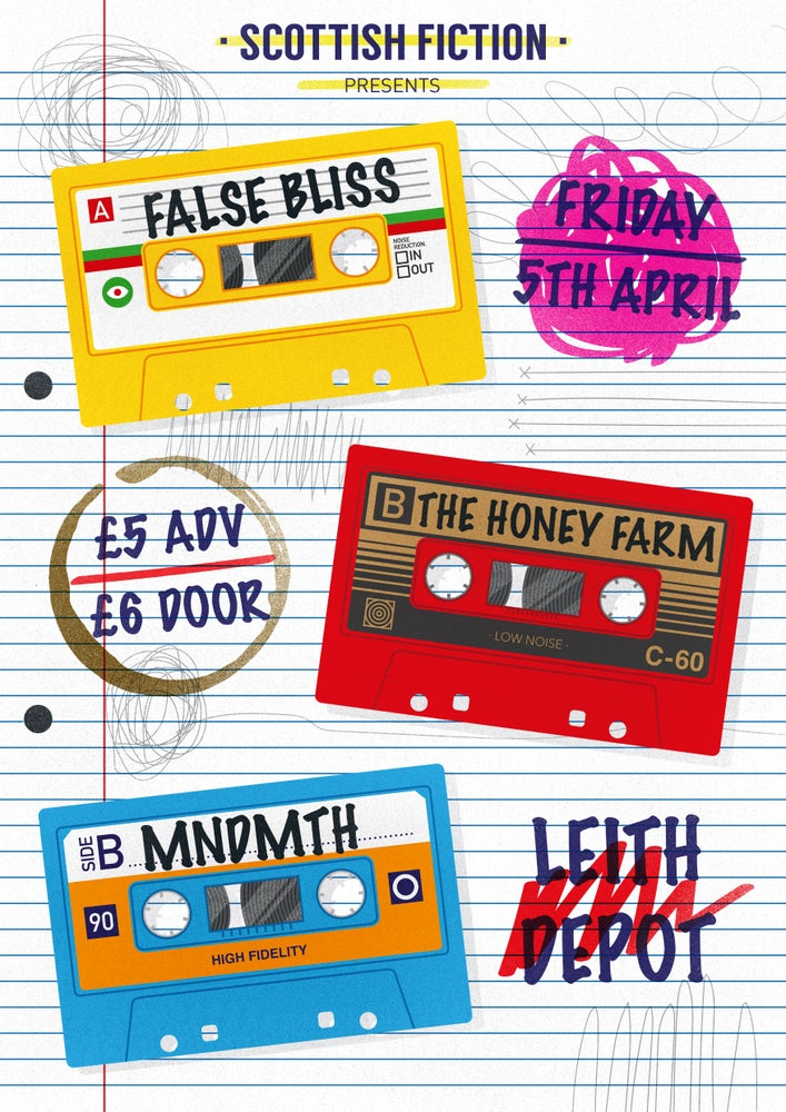 Image of False Bliss album launch w/The Honey Farm and MNDMTH