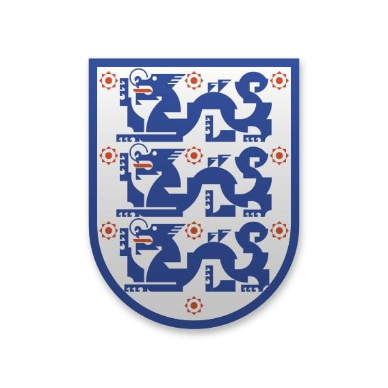 Image of Hong Kong England Enamel pin badge