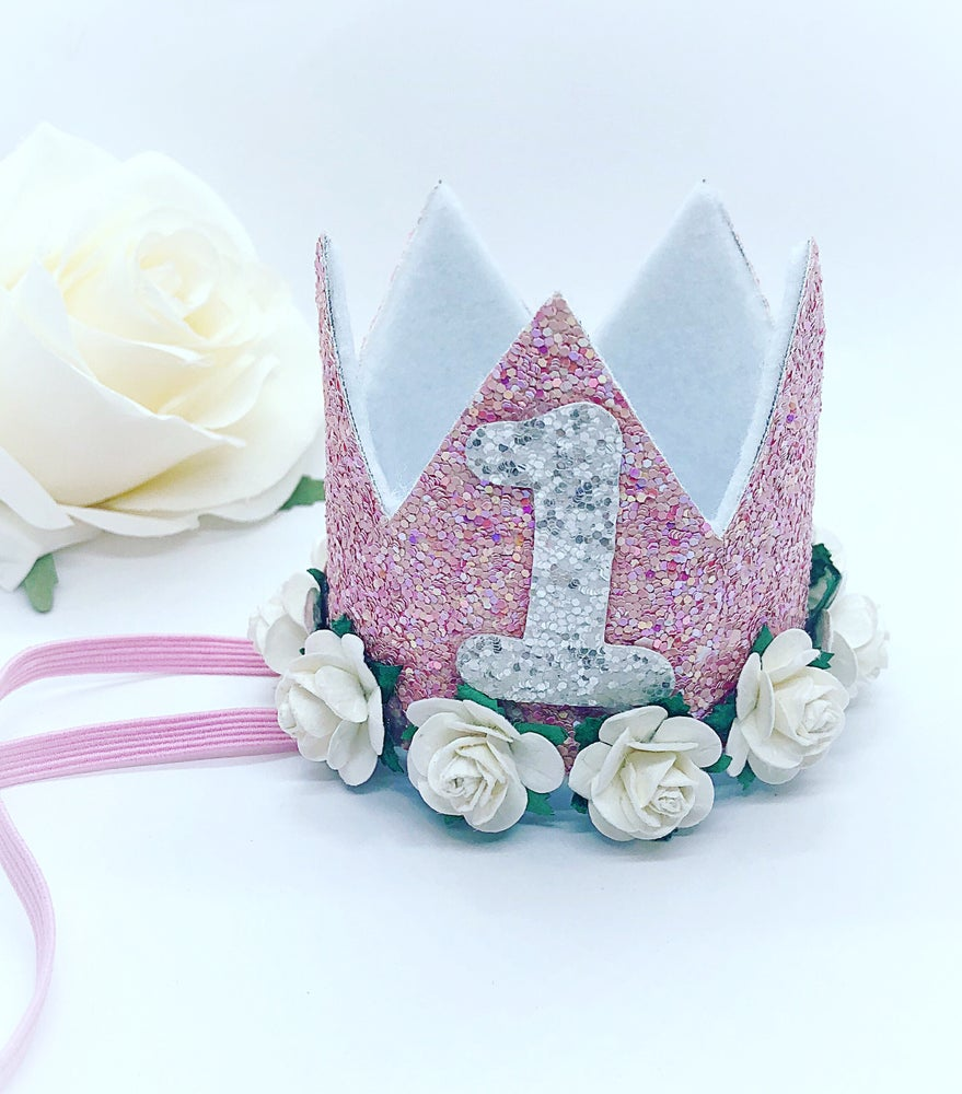 Image of 1st Birthday crown/cake smash