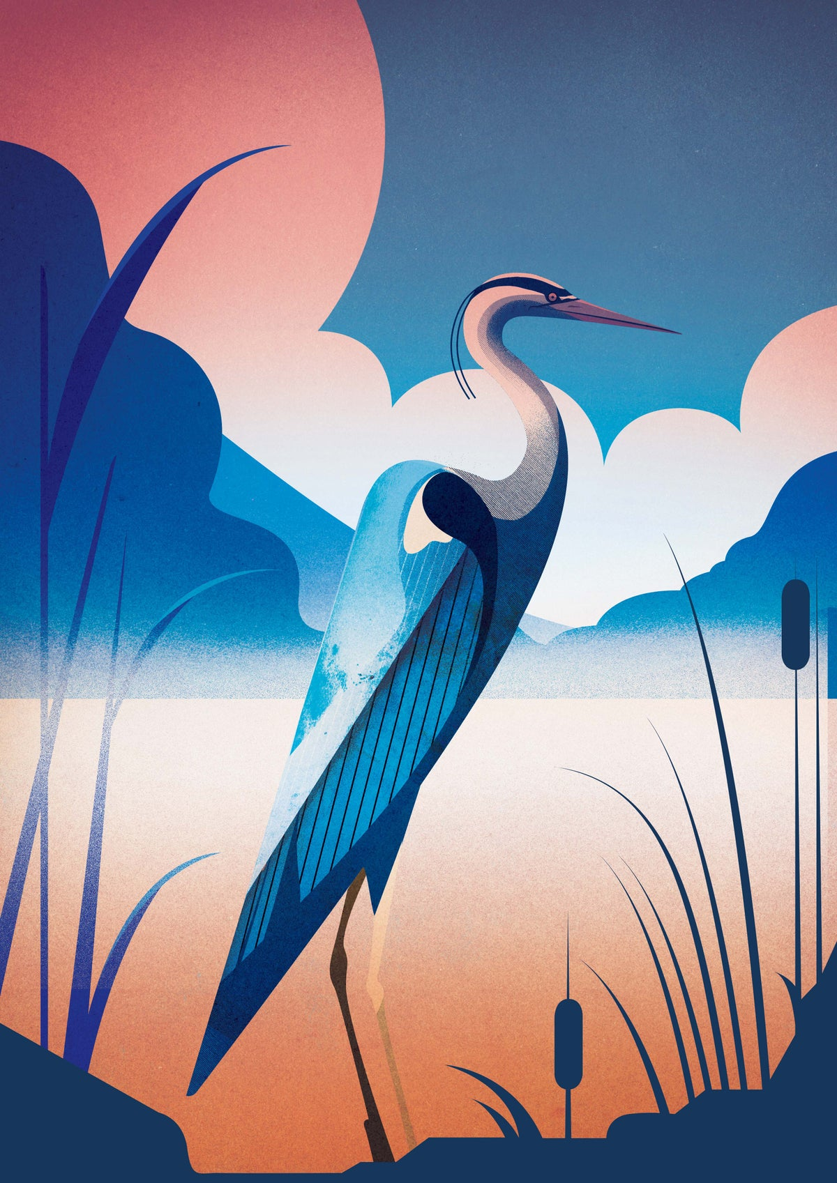 Image of Heron By Still Pond