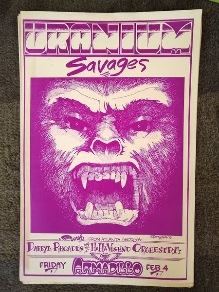 Image of Original Poster from the Feb. 4, 1977 Concert at The World Armadillo Headquarters (limited)