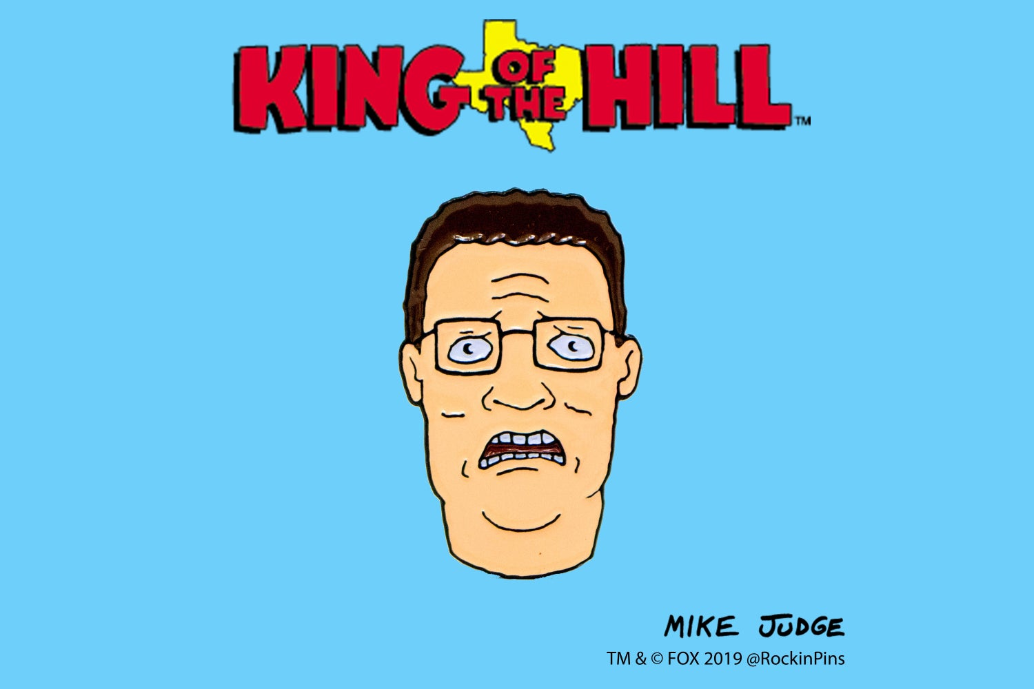 Image of King of the Hill - Hank Hill Bwah Enamel Pin