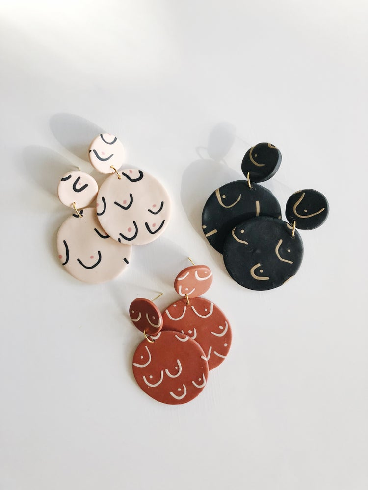 Image of the breast earrings