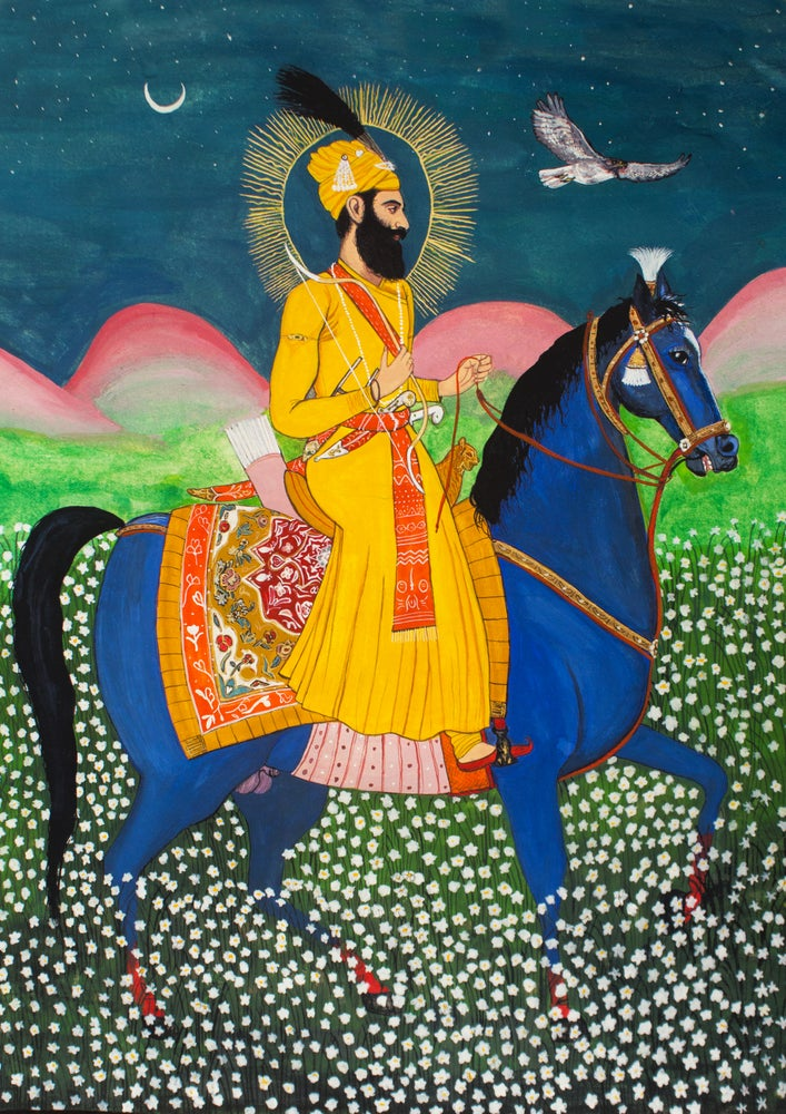 Image of Fine Art Print - Badshah Darves Guru Gobind Singh Ji - A4