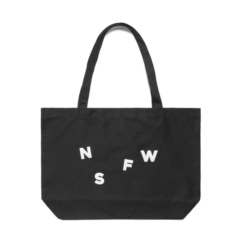 Image of NSFW TOTE BAG - BLACK