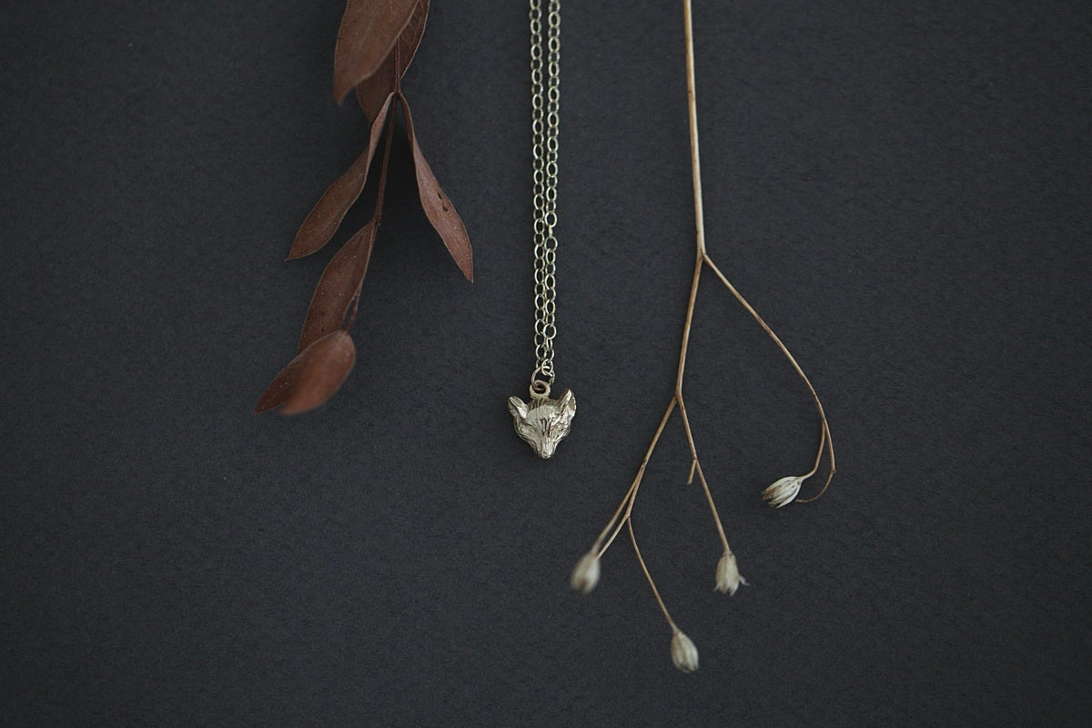 Image of fox necklace (in silver or 9ct gold)
