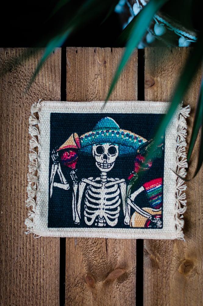 Image of 'Skeleton Sombrero' Coaster x 2 Pack