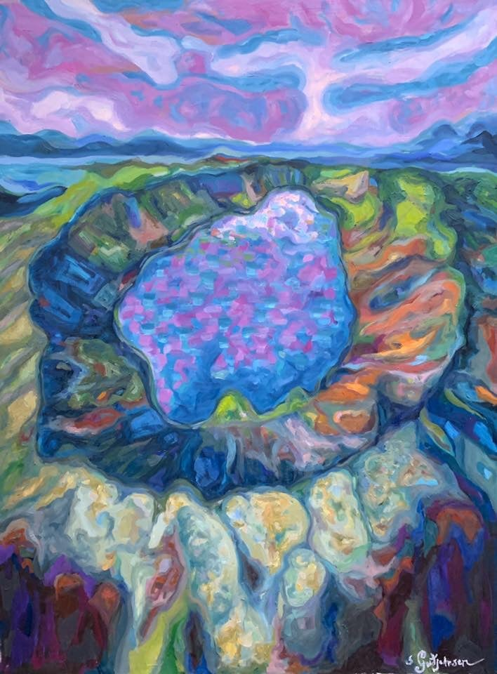 "Image of Gígur 3 | Crater 3 - Oil on canvas - 36"" x 48"" (92cm x 122cm)"