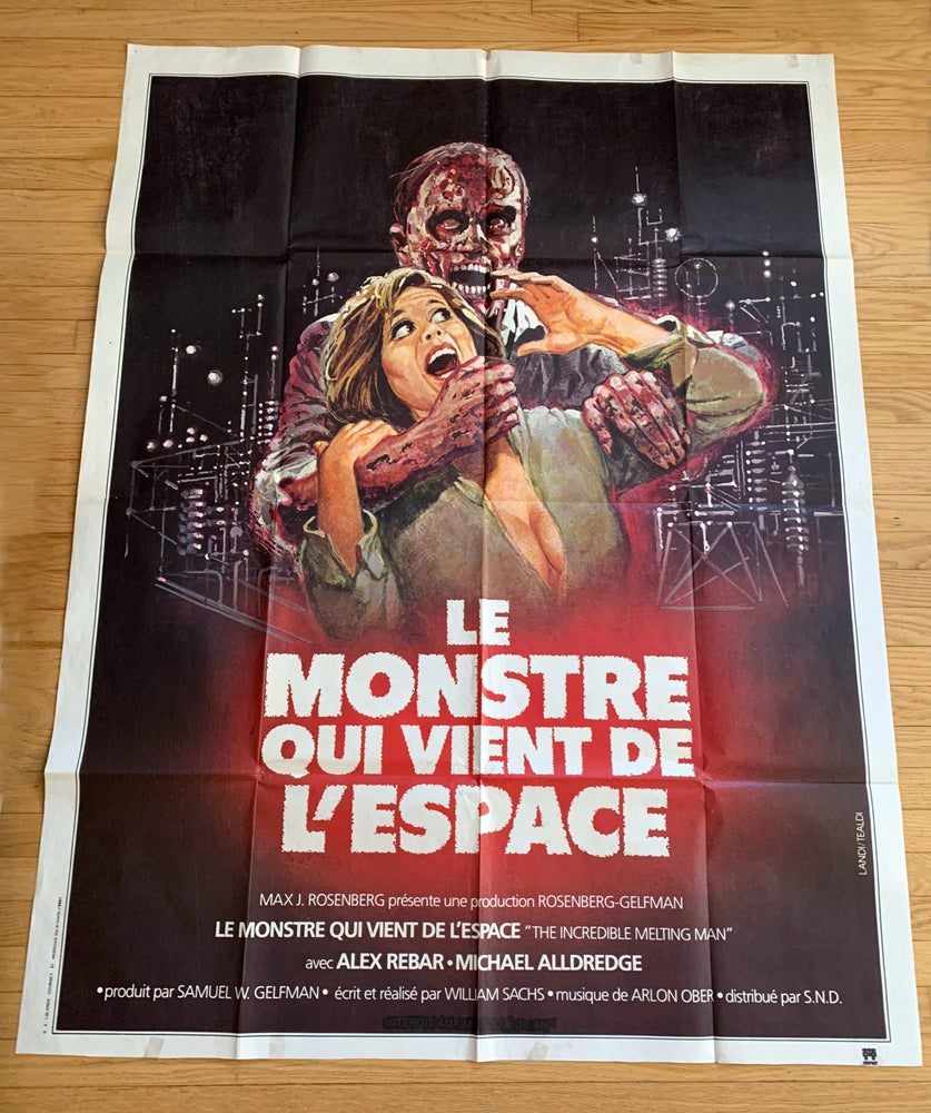 Image of 1977 THE INCREDIBLE MELTING MAN Original French Grande Movie Poster