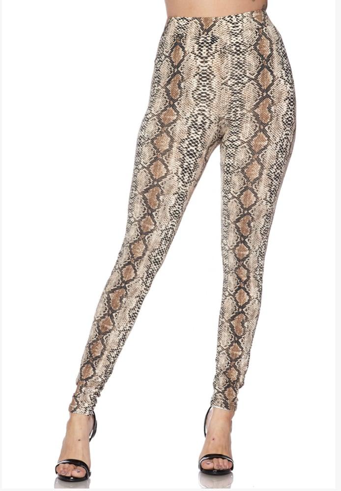 SoHo Snakeprint Leggings