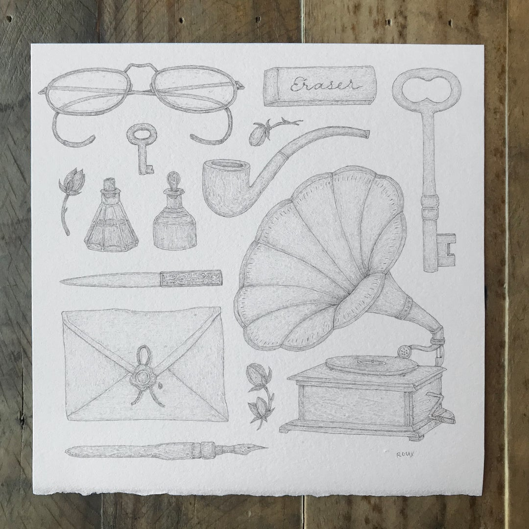 Image of Original Graphite Drawing: September Collection