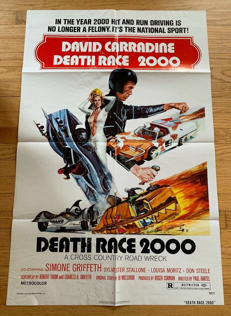 Image of 1975 DEATH RACE 2000 Original U.S. One Sheet Movie Poster
