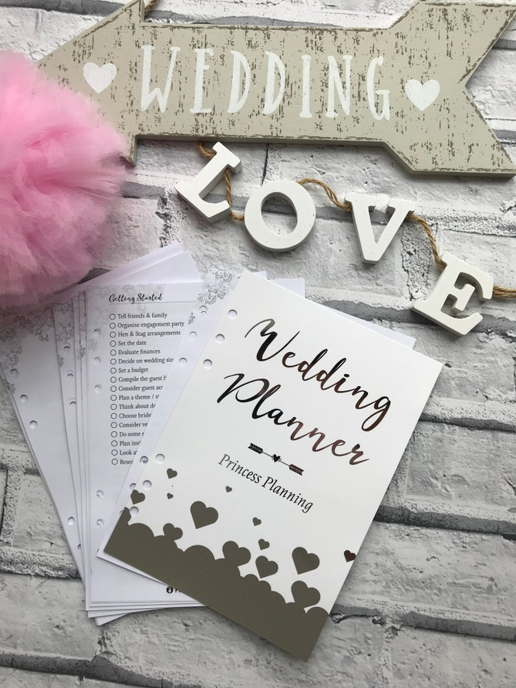 Image of PRINCESS PLANNING WEDDING PLANNER INSERTS
