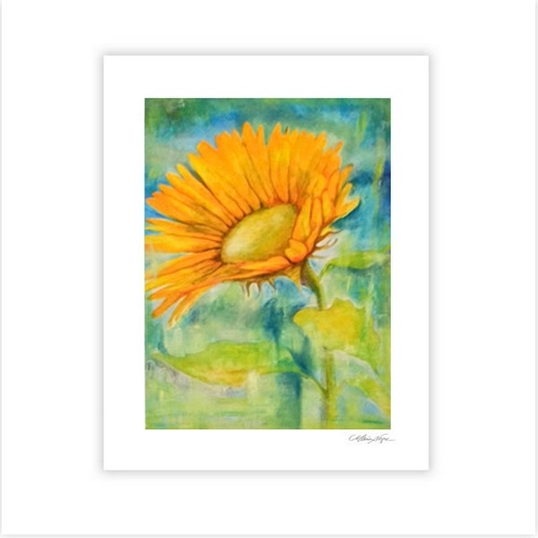Image of Single Sunflower Paper Print