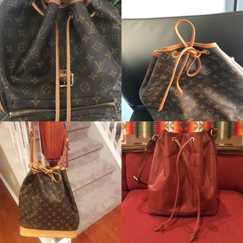 Image of Cinch Cord / Drawstring Replacement for Louis Vuitton (LV) Noe Bucket/Shoulder Bag or Similar Styles