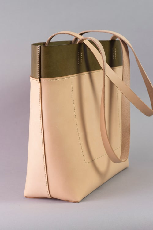 Image of Be Tote <br> Olive Harness and Natural