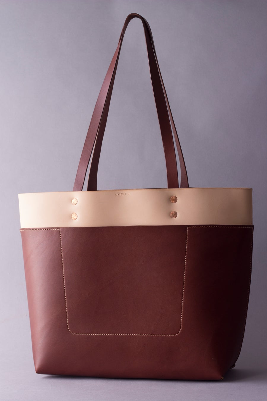 Image of Be Tote <br> Natural and Medium Brown English Bridle