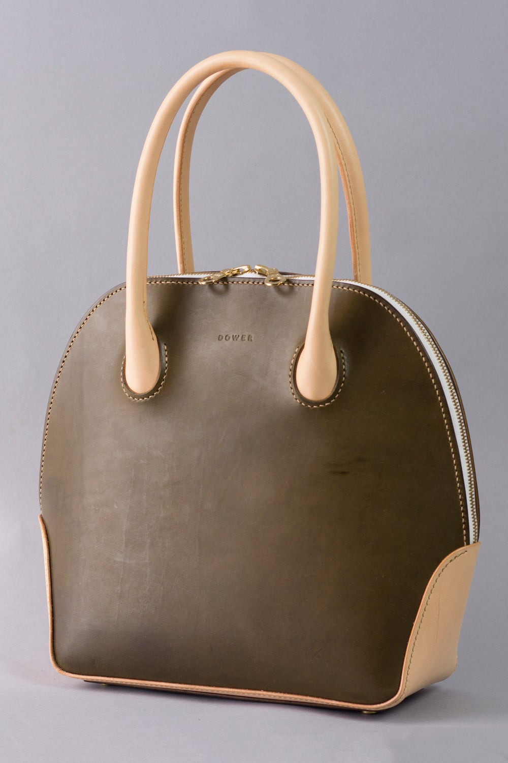 Image of Alie Handbag <br> Olive Harness and Natural