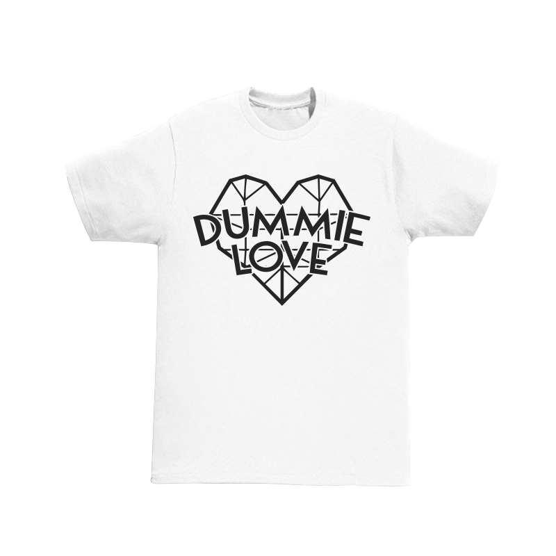Image of Dummie Love Diamond Heart White Tee
