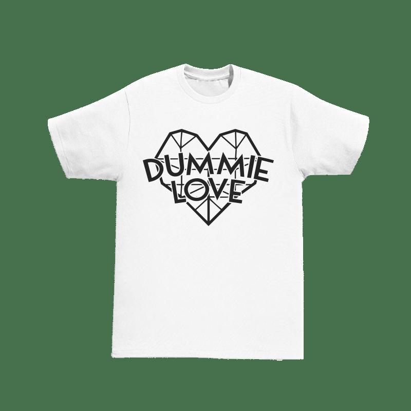 Image of Dummie Love Diamond Heart White Tee